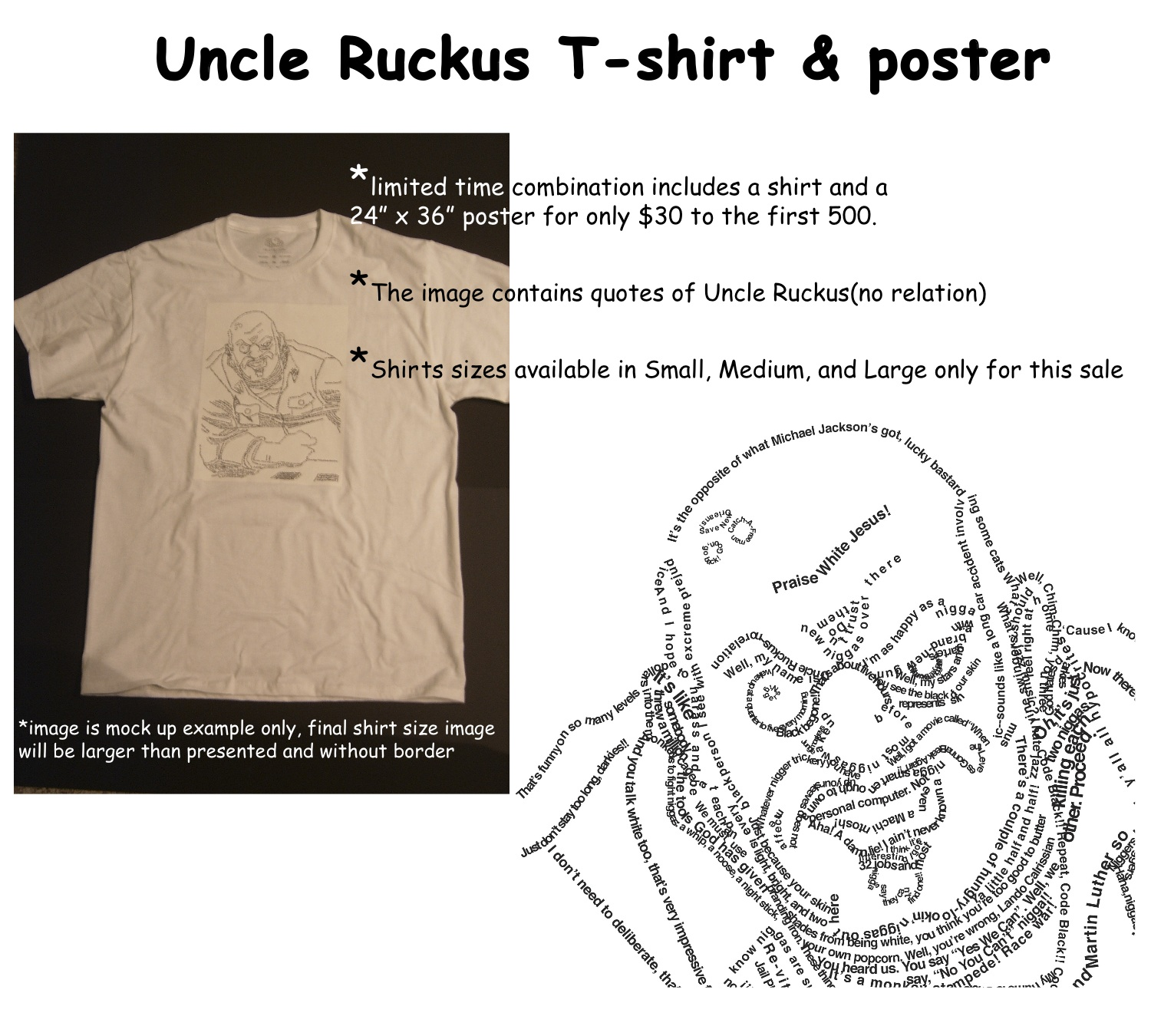Uncle Ruckus shirt poster combo